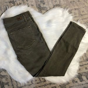 Paige Olive Green Stretch Jeans